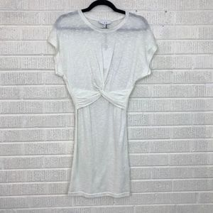 IRO Pier Twist Front Dress Cream Slub Knit S NWT